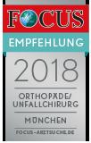 FOCUS Empfehlung 2017 – Orthopäde / Unfallchirurg – München